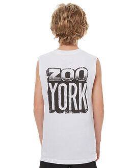 WHITE KIDS BOYS ZOO YORK SINGLETS - ZY-YTC7134WHI