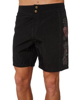 BLACK MENS CLOTHING RUSTY BOARDSHORTS - BSM1249BLK