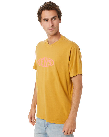 COOL YELLOW MENS CLOTHING LEVI'S TEES - 87373-0009