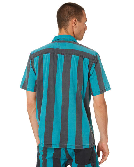 TROPIC BLUE MENS CLOTHING DEUS EX MACHINA SHIRTS - DMS95361TRPBL