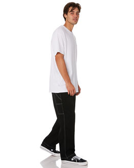 BLACK MENS CLOTHING STUSSY PANTS - ST096605BLK
