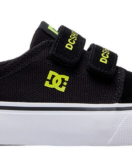BLACK/YELLOW KIDS BOYS DC SHOES SNEAKERS - ADBS300254-BY0