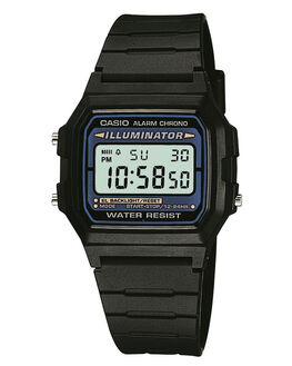 BLACK MENS ACCESSORIES CASIO WATCHES - F105W-1AUZBLK
