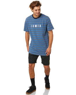 BLUE BLACK WHITE MENS CLOTHING LOWER TEES - LO20Q1MTS31BBW