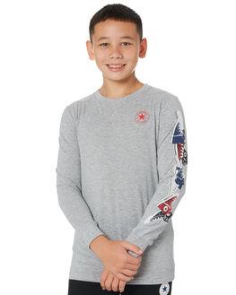 DK GREY HEATHER KIDS BOYS CONVERSE TOPS - R96A244042
