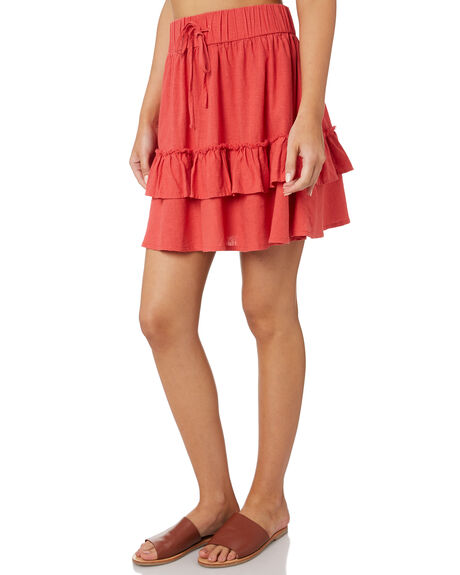 CHRYSANTHEMUM OUTLET WOMENS RUSTY SKIRTS - SKL0467RED