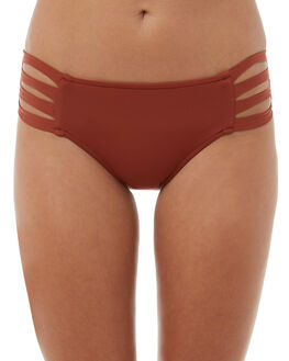 BURNT AMBER OUTLET WOMENS SEAFOLLY BIKINI BOTTOMS - 40355-058AMB