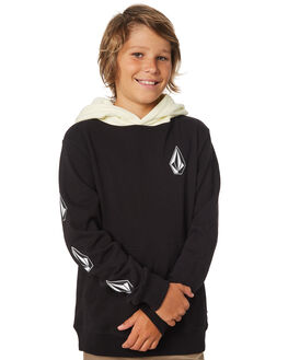 BLACK COMBO KIDS BOYS VOLCOM JUMPERS + JACKETS - C4131805BLC