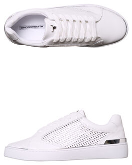 WHITE WOMENS FOOTWEAR WINDSOR SMITH SNEAKERS - 8851WSWHT