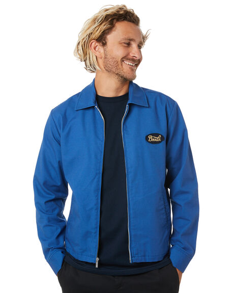 RIVER BLUE MENS CLOTHING BRIXTON JACKETS - 03238RIBLU