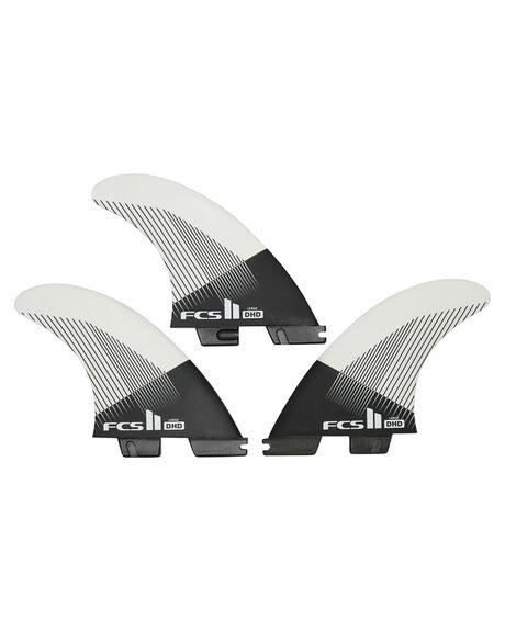 BLACK WHITE BOARDSPORTS SURF FCS FINS - FDHM-PC01-TS-RBLKWH