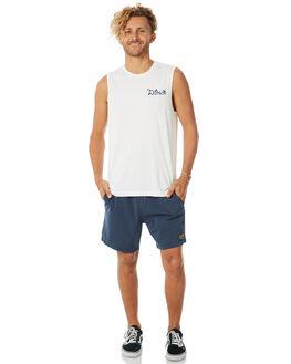 WHITE MENS CLOTHING DEUS EX MACHINA SINGLETS - DMP81564CWHT