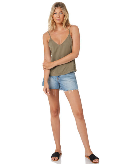 FADED OLIVE WOMENS CLOTHING RUSTY FASHION TOPS - WSL0627FDO