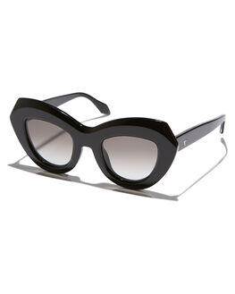 GLOSS BLACK WOMENS ACCESSORIES VALLEY SUNGLASSES - S0374GLBK