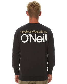 WASHED BLACK MENS CLOTHING O'NEILL JUMPERS - 3711505WBLK