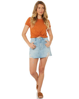 RUST WOMENS CLOTHING MINKPINK TEES - MB18X1001RUS