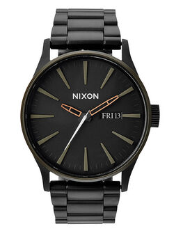 MATTE BLACK INDUSTRIAL GREEN MENS ACCESSORIES NIXON WATCHES - A3561530