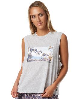 GREY MARLE WOMENS CLOTHING RHYTHM SINGLETS - APR17G-TNK03GRY