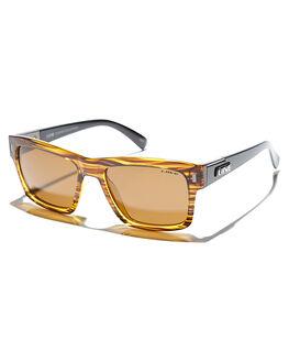 GOLD STRIPE MENS ACCESSORIES LIIVE VISION SUNGLASSES - LI00550GOLD