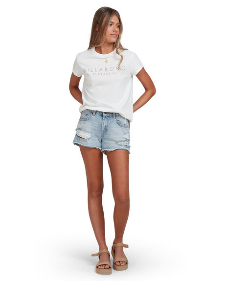 SALT CRYSTAL WOMENS CLOTHING BILLABONG TEES - 6513005-SCY
