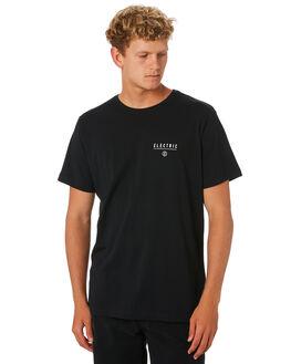 BLACK MENS CLOTHING ELECTRIC TEES - EC-01-48-01BLK