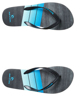 BLACK BLUE MENS FOOTWEAR RIP CURL THONGS - TCTE710107