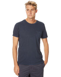 FEDERAL BLUE MENS CLOTHING RVCA TEES - R371003FBLU