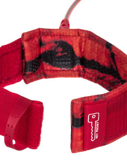 RED BOARDSPORTS SURF QUIKSILVER LEASHES - EGLHHLINE6RED