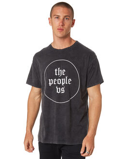 SMASHED BLACK MENS CLOTHING THE PEOPLE VS TEES - HS18071SMBLK