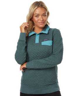 NOUVEAU GREEN WOMENS CLOTHING PATAGONIA JUMPERS - 25281NUVG