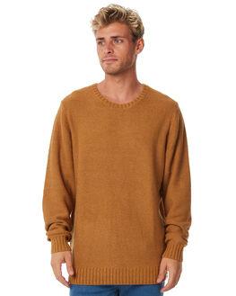 VINTAGE BROWN MENS CLOTHING RHYTHM KNITS + CARDIGANS - APR18M-KN01BRO