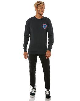 BLACK MENS CLOTHING SANTA CRUZ JUMPERS - SC-MFA8758BLK