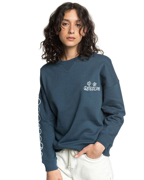 ORION BLUE WOMENS CLOTHING QUIKSILVER JUMPERS - EQWFT03023-BRG0