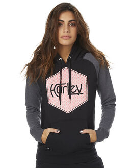 BLACK WOMENS CLOTHING HURLEY JUMPERS - AGFLDGHT00A
