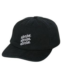 BLACK MENS ACCESSORIES AFENDS HEADWEAR - A181605BLK