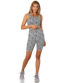 ICE BLUE LEOPARD WOMENS CLOTHING THE UPSIDE ACTIVEWEAR - USW120030ICELP