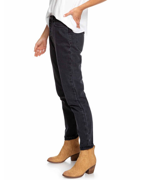 ANTHRACITE WOMENS CLOTHING ROXY JEANS - ERJDP03222-KVJ0