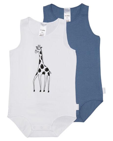 GIRAFFE WHITE GREY KIDS BABY BONDS CLOTHING - BX4DAPK4