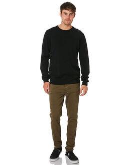 BLACK MENS CLOTHING ACADEMY BRAND KNITS + CARDIGANS - 19W440BLK