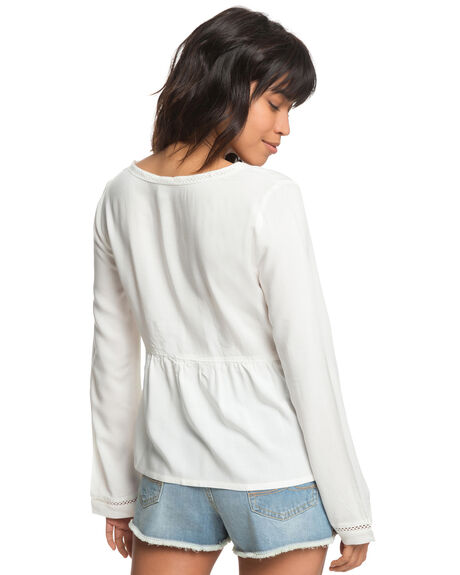 MARSHMALLOW WOMENS CLOTHING ROXY FASHION TOPS - ERJWT03232WBT0