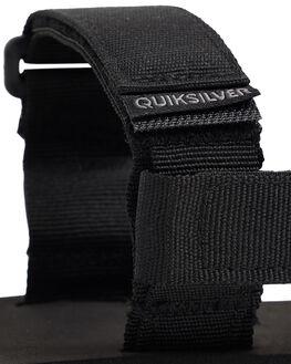 BLACK/GREY/BROWN MENS FOOTWEAR QUIKSILVER THONGS - AQYL100748-XKSC