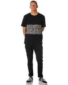 FLINT BLACK MENS CLOTHING ELEMENT TEES - 183021FBLK