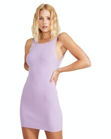 Don't Ask Amanda Mini Knit Backless Dress - Lilac   SurfStitch