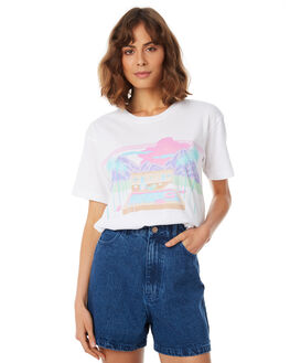 WHITE WOMENS CLOTHING AFENDS TEES - W183007-WHT