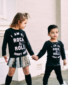 ACID BLACK KIDS BOYS LITTLE LORDS TOPS - AW19311ABLK