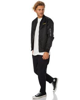 BLACK MENS CLOTHING THRILLS JACKETS - TH7-206BBLK