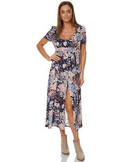 NAVY BLUE WOMENS CLOTHING AUGUSTE DRESSES - AMH1-17214-NBNB