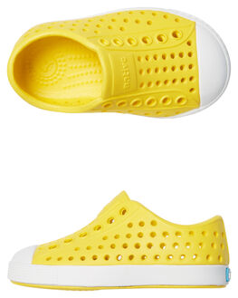 CRAYON YELLOW WHITE KIDS TODDLER BOYS NATIVE FOOTWEAR - 13100100-7521