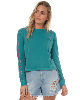 LCD GREEN WOMENS CLOTHING RVCA TEES - R272093667
