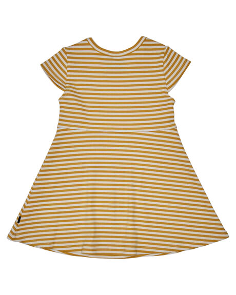 YELLOW STRIPE KIDS GIRLS ANIMAL CRACKERS DRESSES + PLAYSUITS - 3480025YLW